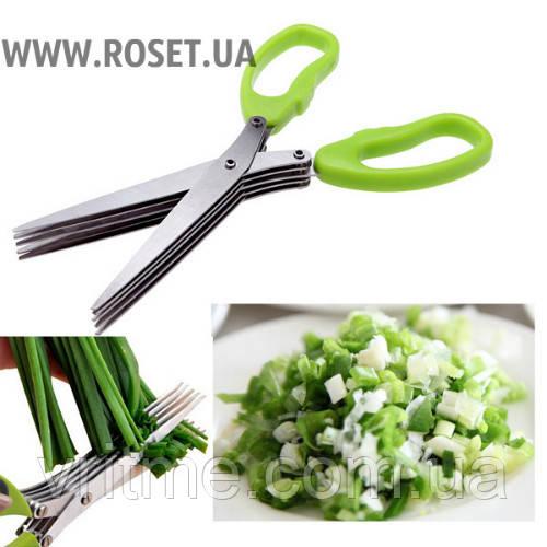 Кухонные ножницы для нарезки зелени Herb Scissors (5 лезвий)