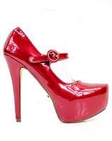 Красные женские туфли с ремешком Meik 38