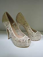 Бежевые женские туфли OKSANA, фото 1