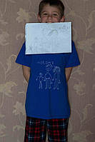 Дитяча футболка ручного розпису з малюнком вашої дитини, фото 1