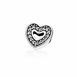 Сменный элемент (петит) Сияющее сердце для наполнения прозрачного медальона