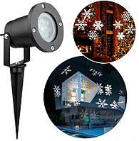 Уличный проектор LED GOBO LIGHT Снежинки, фото 1