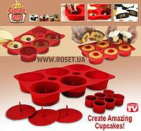Силиконовая форма для выпечки капкейков CUPCAKE SECRET, фото 1