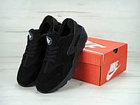 """Мужские зимние  кроссовки Nike Air Huarache """"Black"""""""