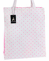 Бело-розовая женская сумка-шоппер TOITA