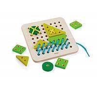 Деревянная игрушка Plan Тoys Доска-шнуровка (5372)