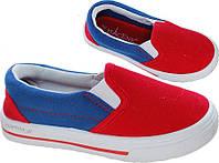 Сине-красные детские слипоны - 34 размер