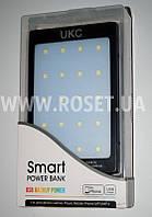 Портативное зарядное устройство на солнечной батарее - Smart Solar Power Bank + Flash Light LED UKC 15000 mAh