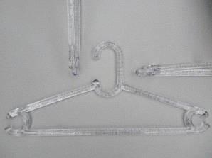Длина 42,5 см.Плечики пластмассовые Marc-Th WBZP прозрачные