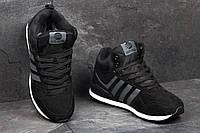 Мужские зимние кроссовки Adidas Neo ченые 3543