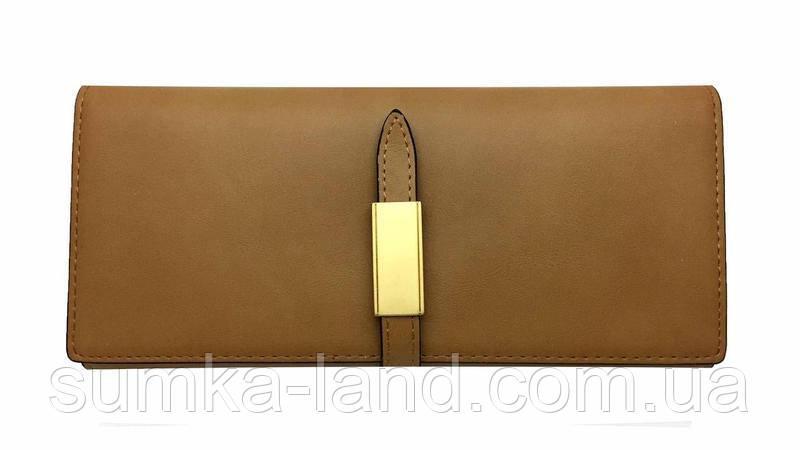 Женский коричневый кошелек двойного сложения Balisa