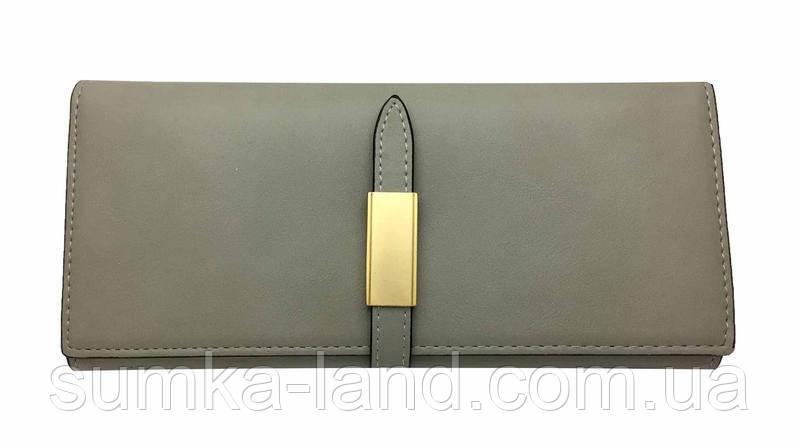 Женский серый кошелек двойного сложения Balisa