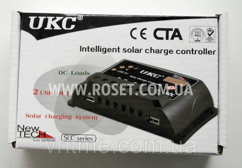 Контроллер для солнечной панели - UKC Intelligent solar charge controller SLC-20A