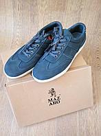 Темные синие мужские кроссовки из натурального нубука от MAZARO