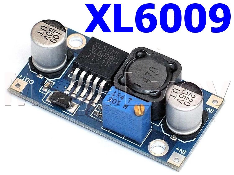 Преобразователь повышающий XL6009E 4A с регулировкой напряжения ( модуль питания  DC-DC Step UP )