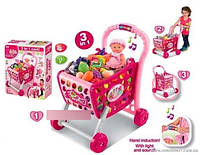 """Игровой набор 008-902  """"Супермаркет""""тележка с продуктами"""