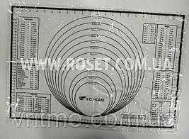 Силиконовый коврик для выпекания с разметками -  V.C.HOME 60х40 см