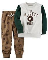 Костюм флисовый на мальчика 12-18-24 мес. Пуловер, штаны-джоггеры Carter's (США)