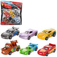 Набор машинок 8106 Тачки (Cars Walt Disney) инерционная, 6 шт, 9 см, резиновые колеса