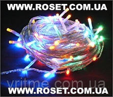 LED гирлянда новогодняя 100 ламп 6,5 метров