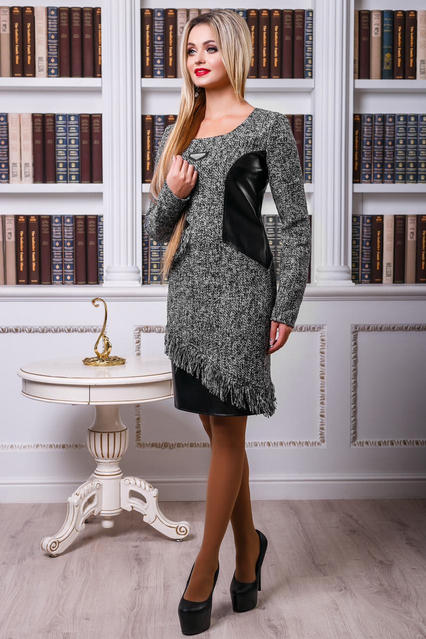 38e3e8ce5ce Женское платье из буклированной ткани