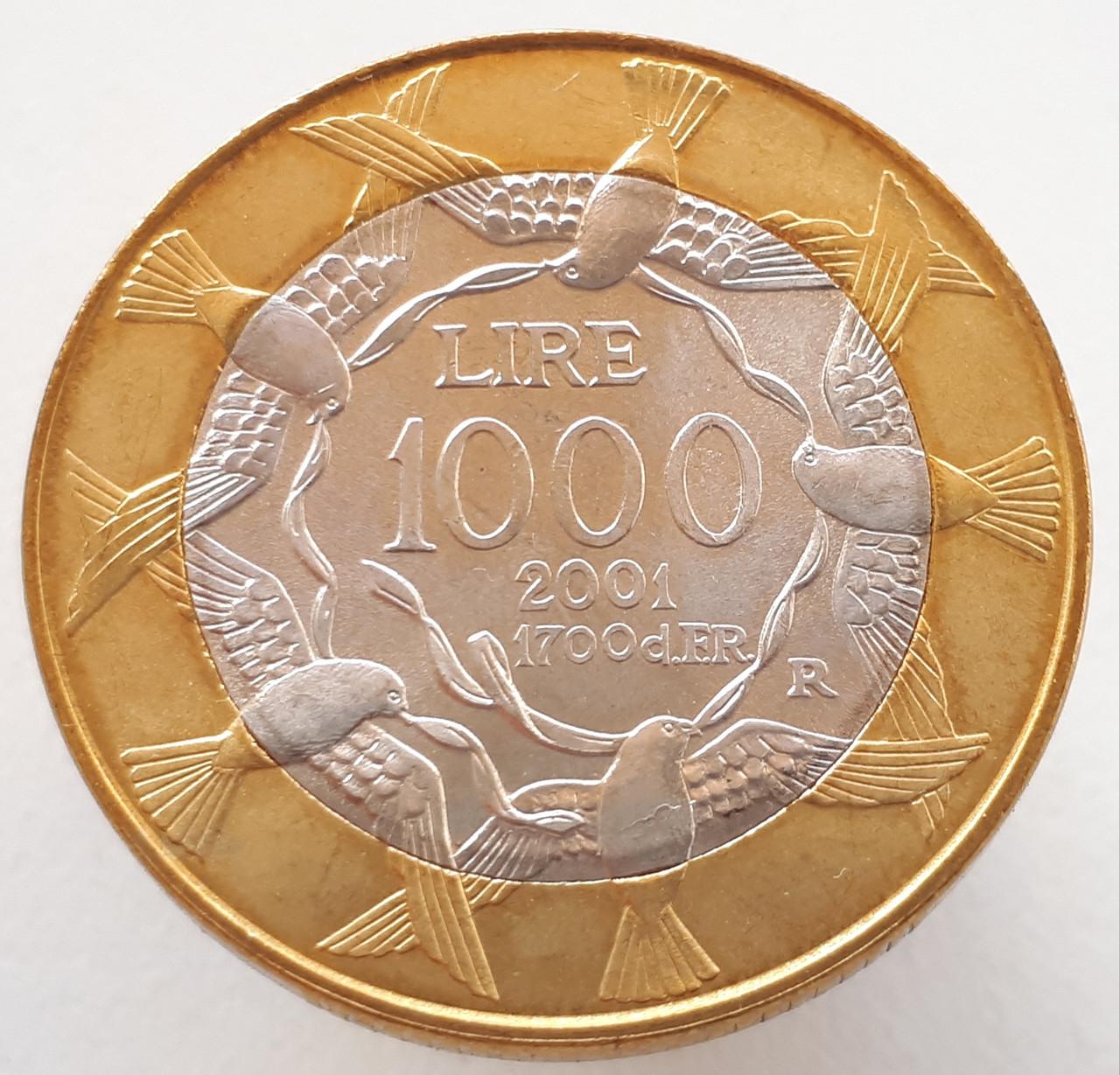 Сан-Марино 1000 лир 2001 - 1700 лет Независимости