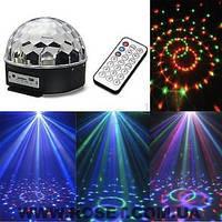 Диско шар LED Ball Light с MP3 +пульт+флешка, фото 1