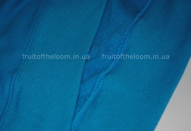 Ультрамариновая  женская лёгкая толстовка с капюшоном