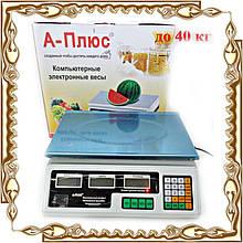 Весы электронные 40 кг 1645 А+ (метал. кнопки)