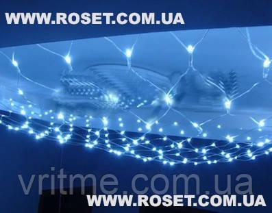 Гирлянда сетка 2м*2 м -  240 LED (цвет-мульти,белый,синий, желтый)