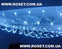 Гирлянда сетка 2м*2 м -  240 LED (цвет-мульти,белый,синий, желтый), фото 1