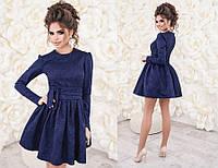 1282ad97be1 Женское платье с поясом и фатиновой подкладкой