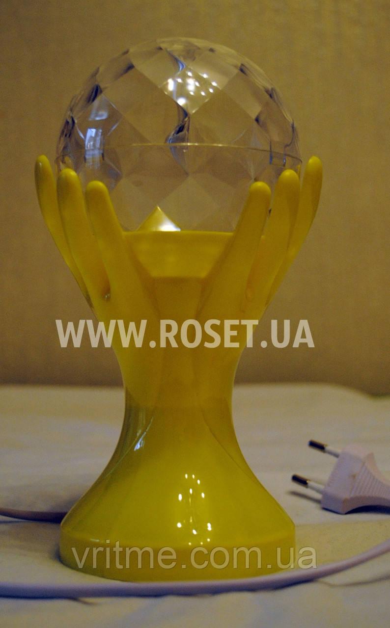 LED Диско-лампа проектор в виде трофея (LED Full Color Rotating Lamp)