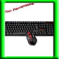 ИГРОВАЯ беспроводная клавиатура + мышка HK6500