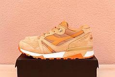 Мужские  кроссовки Diadora оранжевые топ реплика