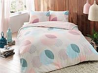Постельное белье Тас Flanel Bella розовое евро размер