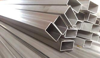 Труба  алюминиевая прямоугольная 80х40 мм 6060 Т6, фото 2