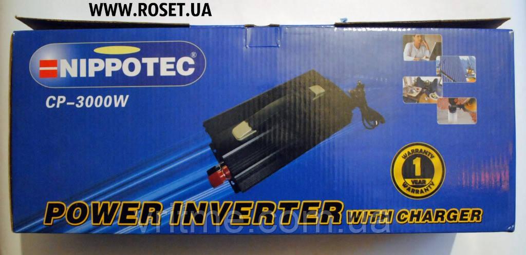 Инвертор Nippotec CP-3000W с зарядным устройством на 10 A