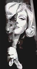 Картина по номерам Изящная Мерлин (KHO2667) Идейка 26 х 50 см