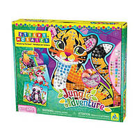 Набор мозаики для творчества Животные Джунглей 69117 ТМ: Sticky Mosaics