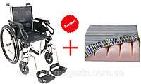 Инвалидная складная коляска Millenium III, OSD (Италия) + противопролежневая подушка