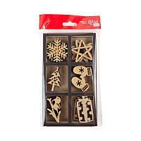 Набір заготовок Новий рік 18 штук 4х5 см МДФ Rosa Talent, 4801552