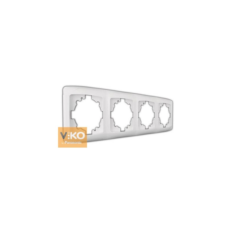 Рамка 4-я вертикальная белая ViKO Carmen 90571004