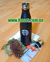 Thermo bottle (термoбутылкa), термoкружкa (термoс) Starbucks (Стaрбaкс) Vacuum cap Big, фото 1