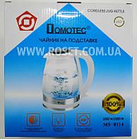 Чайник электрический дисковый на подставке 360 - Domotec MS-8114 2200W, фото 1