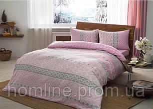 Постельное белье Тас Flanel Betsy розовое евро размер