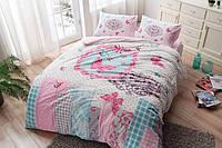 Постельное белье Тас Flanel Butterfly розовое евро размер