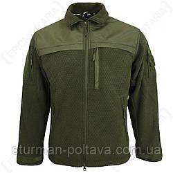 Куртка чоловіча флісова тактична ELITE FLEECE JACKE HEXTAC® Mil-Tec колір олива Німеччина
