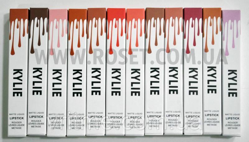 Набор жидких матовых помад - Kylie Matte Lipstick 12 pcs