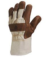 Перчатки хб/кожа Delta Plus DR605 коричневые